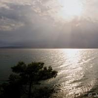 Pohled na moře z promenády mezi Promajnou a Baškou