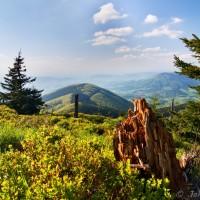 Vrchol Kněhyně - ten kopec snad je Noříčí