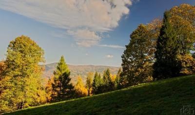 Pohled z Přelače na hřeben Kotaře