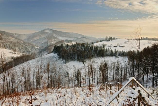 Pohled na Velký Stožek z úbočí Filipky