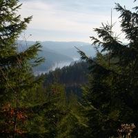 Odpolední pohled na přehradu Šance