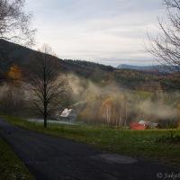 Těsně nad Ostravicí - ze zimy krásný podzim...