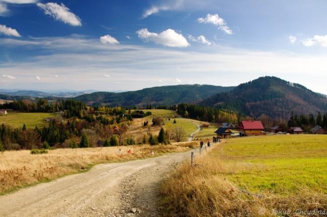 Pohled z Cieslaru na Stožek