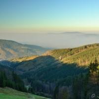 Pohled od Severky na Jablunkovsko